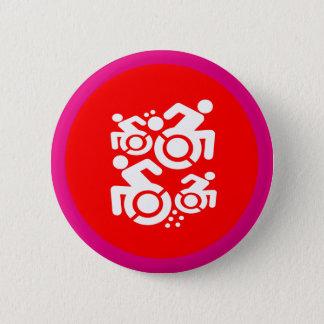 Rolstoel als Art. Ronde Button 5,7 Cm