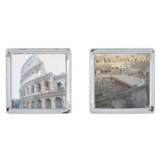 Roman Colosseum - Roman Cufflinks van de Vakantie Verzilverde Manchetknopen