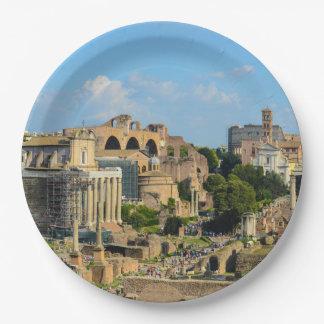 Roman Forum in Rome Papieren Bordje