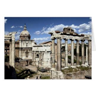 Roman Forum, Rome, Italië Wenskaart