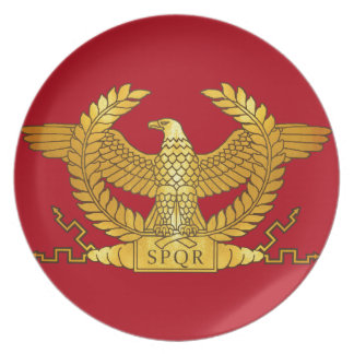 Roman Gouden Eagle op Rood Bord