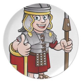 Roman Karakter van de Cartoon van de Militair Bord