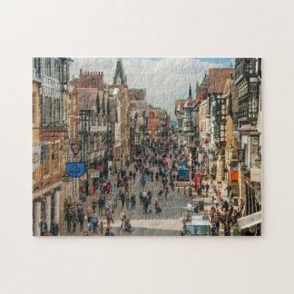 Roman Stad van het Afbeelding van Chester Engeland Puzzel