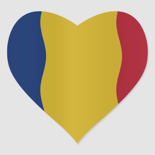 Romania flag hart sticker