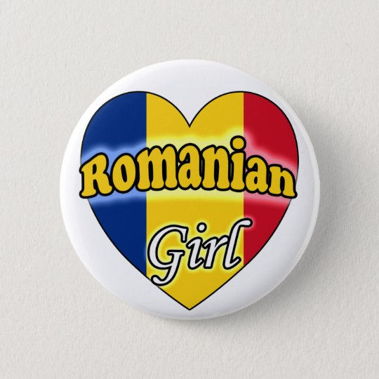 Romanian Girl Ronde Button 5,7 Cm