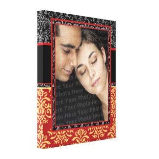 Romantisch Damast voor ultra-Elegante het Portret  Canvas Print