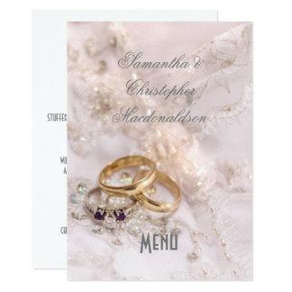 Romantisch modern huwelijksmenu kaart