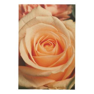 Romantisch nam de Roze Bloem van de Lente van Afdruk Op Hout