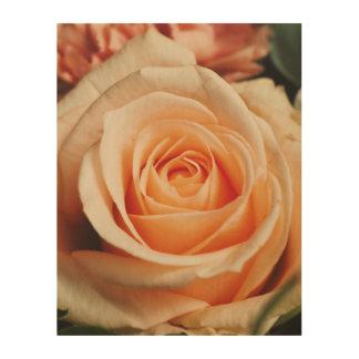 Romantisch nam de Roze Bloem van de Lente van Afdrukken Op Hout