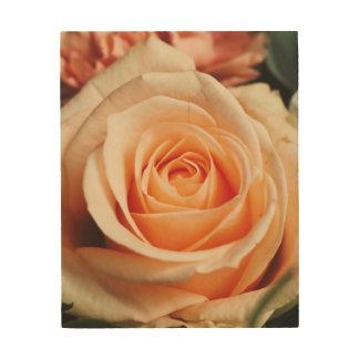 Romantisch nam de Roze Bloem van de Lente van Hout Afdrukken