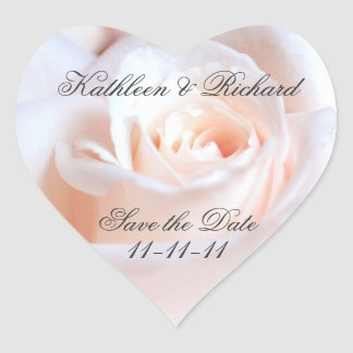 Romantisch nam Huwelijk hart-Vormige Etiketten toe Hart Sticker