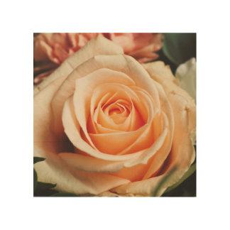 Romantisch nam Roze toenam toe Hout Afdruk