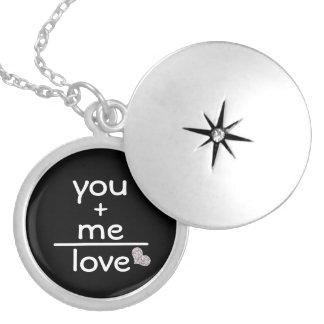 Romantisch u +Me Gelijken houd van Zilver Vergulden Ketting