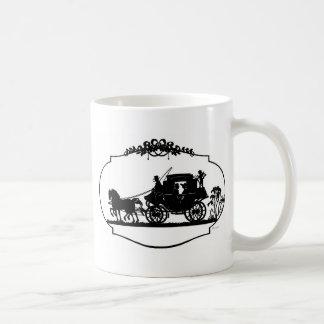 Romantisch Vervoer Sillhouette Koffiemok
