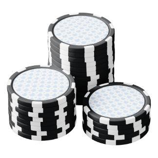 Romantische Blauwe & Witte Harten Pokerchips