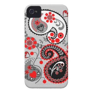 Romantische Bloemen retro iPhone 4 van Paisley iPhone 4 Hoesje