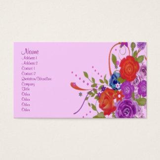 Romantische Bloemen Visitekaartjes