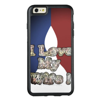Romantische Franse Blauwe Nationale Kleur I houdt OtterBox iPhone 6/6s Plus Hoesje