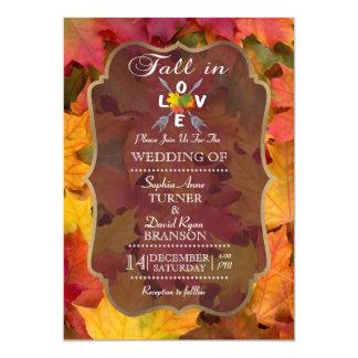 Romantische Herfst in de Uitnodiging van het