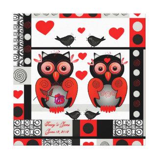 Romantische huwelijk of valentijnskaartdruk met canvas afdruk
