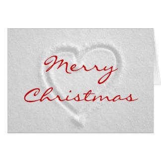 Romantische Kerstkaart Briefkaarten 0