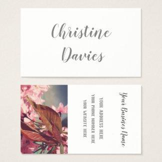 Romantische kop thee, bloemenvisitekaartje visitekaartjes