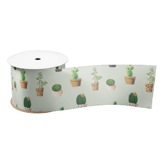 Romantische Leuke succulente cactus op Satijnen Lint