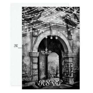 Romantische Lichten en het Gotische Huwelijk RSVP Kaart