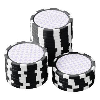 Romantische Lila & Witte Harten Pokerchips
