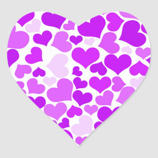 Romantische Mooie van de paarse van Viooltjes Hart Sticker