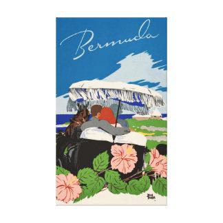 Romantische retro vintage de reisadvertentie van canvas afdrukken