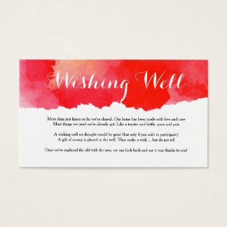 Romantische Rode Waterverf die - goed kaart wensen