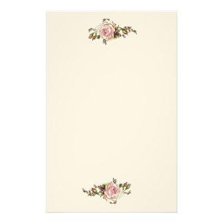 Romantische Rosebuds van Rozen Elegante Vintage Briefpapier Papier