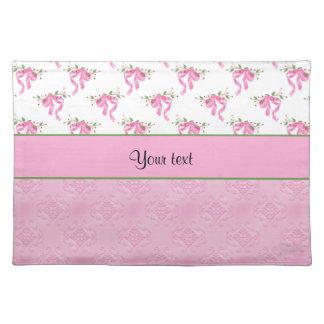 Romantische Roze Bogen & Mooie Roze Damast Placemat