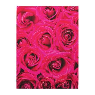 Romantische Roze Paarse Rozen Hout Prints