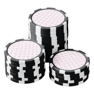 Romantische Roze & Witte Harten Pokerchips