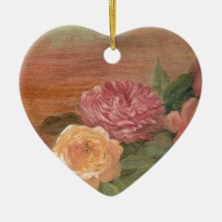 Romantische sjofele elegant van pastelkleurrozen kerst ornament