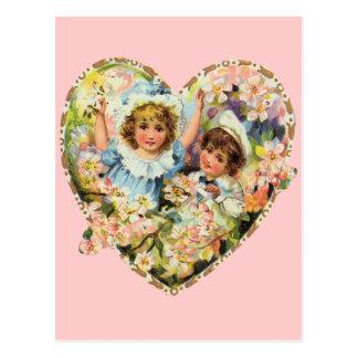 Romantische Vintage Valentijnskaarten Briefkaart