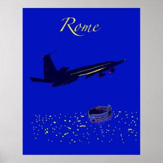Rome bij Nacht Poster