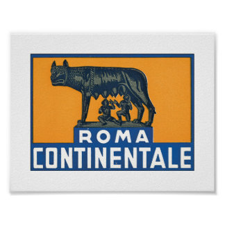 Rome Continentale Poster