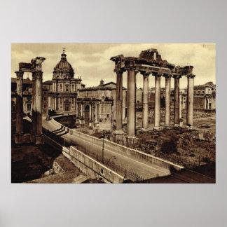Rome, Weg door het Forum Poster