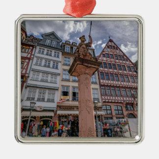 Romer Frankfurt Zilverkleurig Vierkant Ornament