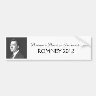 Romney 2012 bumpersticker