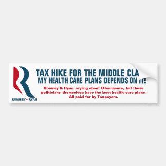 Romney die - de middenklasse belasten bumpersticker