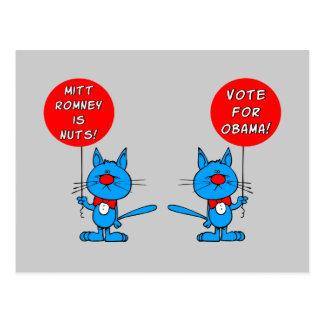 Romney is noten stemt voor Obama Briefkaart