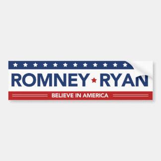 Romney Ryan gelooft in de Sticker van de Bumper va