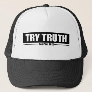 Ron Paul 2012: Probeer Waarheid Trucker Pet