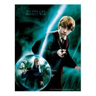 Ron Weasley en Lucius Malfoy Briefkaart