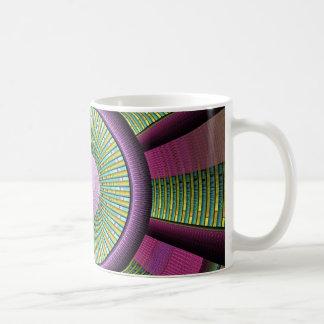 Rond en Kleurrijk Modern Decoratief Fractal Art. Koffiemok