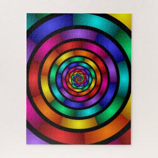 Rond en Psychedelisch Kleurrijk Modern Fractal Puzzel
